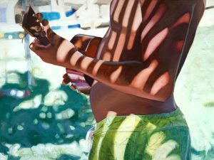 Boy with Ukulele | Aloha Art