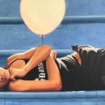 Dancer Resting with Pink Balloon | Hawaii Art