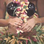 Dancer with Plumeria Torso   Hawaii Art