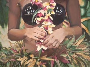 Dancer with Plumeria Torso | Hawaii Art