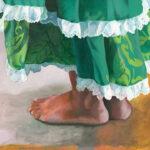 Dancers Feet in Green