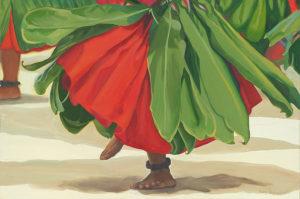 Dancers Feet in Red | Hawaiian Art