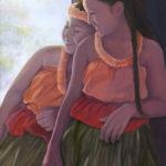 Halau Sisters in Shadow   Hawaii Art