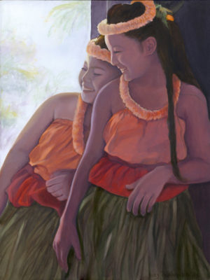 Halau Sisters in Shadow | Hawaii Art