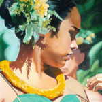 Hula Girl Lifting Her Strap | Aloha Art