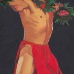 Hula Kane in Red   Aloha Art