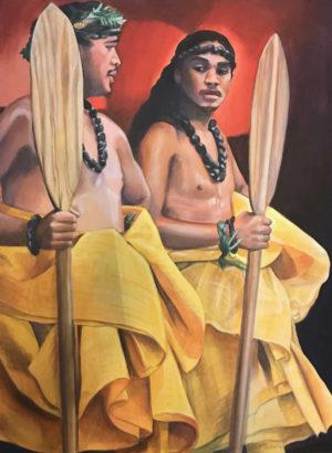 Hula Paddlers | Hawaiian Art