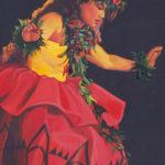Hula Wahine in Red 2   Aloha Art