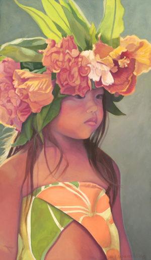 Keiki Dancer with Hibiscus Haku | Aloha Art