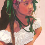 Keiki with Orchids and Ti | Hawaii Artist Suzy Papanikolas