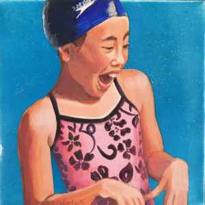 Laughing Swimmer in Pink   Aloha Art