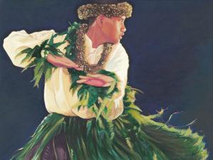 Male Dancer with Ti Skirt | Aloha Art