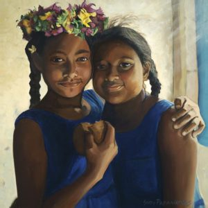 Sisters with Donut | Hawaii Art