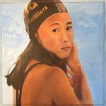 Swimmer with Black Cap | Hawaii Art