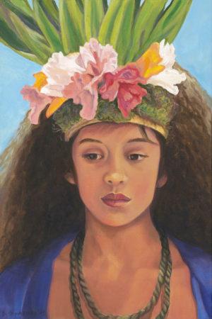 Tahitian Dancer in Blue | Aloha Art