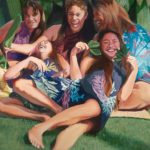 Wahine Laughing   Hawaii Art