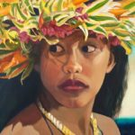 Wahine Looking Left | Aloha Art