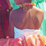 Wahine in Orange Skirt | Hawaii Art