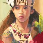 Wahine with Tapa Hat | Hawaii Art