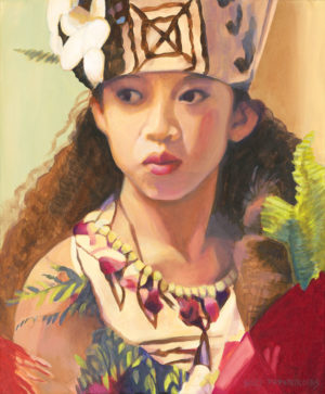 Wahine with Tapa Hat | Hawaii Art
