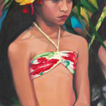 Young Dancer with Yellow Hibiscus | Aloha Art