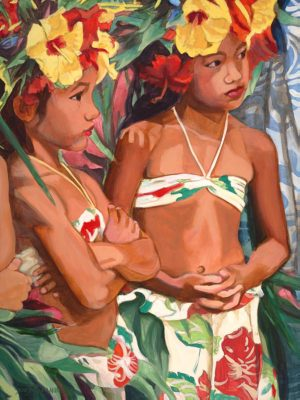 Young Dancers with Yellow Hibiscus | Aloha Art