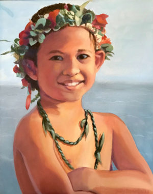 Young Kane at Canoe Festival | Hawaii Art